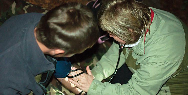 zdravie v lese, armytraining