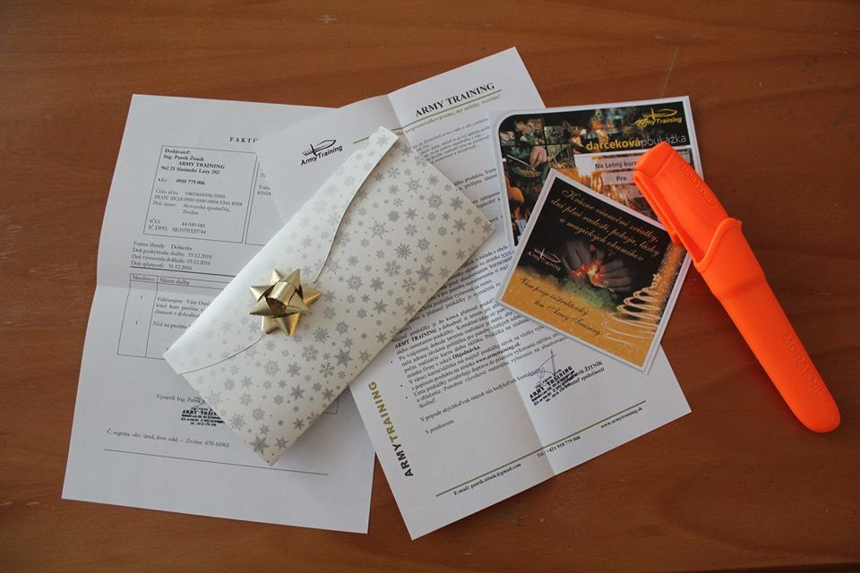 darček pod stromček formou našej darčekovej poukážky armytraining