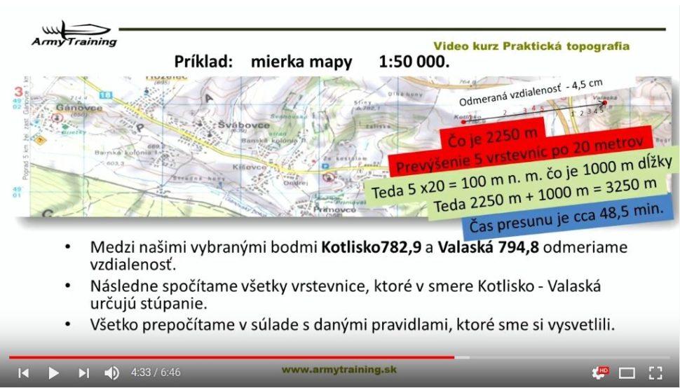 meranie vzdialenosti na mape armytraining