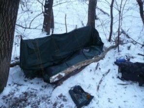 prístrešok na zimný kurz prežitia armytraining.sk