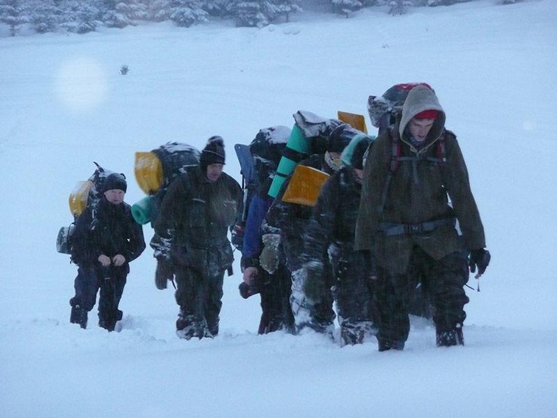 presun v zime, kurz armytraining.sk