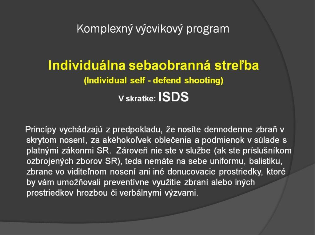 principy individualnej sebaobrannej strelby