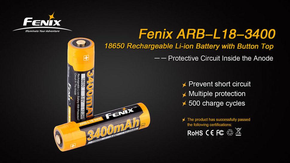 vlastnosti baterii fenix 2